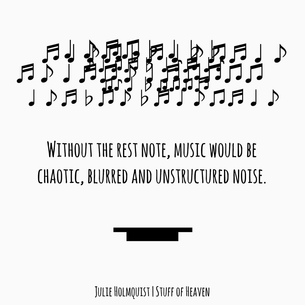 Chaotic Musical Notes or Rest Notes